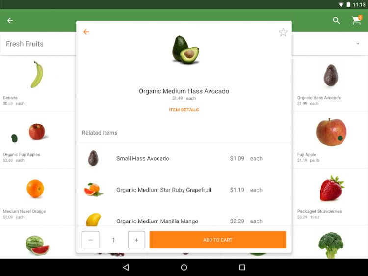 Instacart: Same-day grocery delivery Screenshot 1 - marmotgraphics.com
